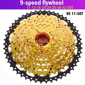 Rowerowe koło zamachowe BOLANY MTB Cassete 9 S 27S 11-42T 50T 32T części rowerowe górskie 9 prędkości kaseta wolne koło kompatybilne złoto