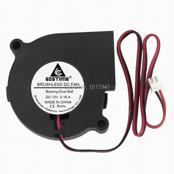 10 Pieces lot DC Brushless Cooling Blower Fan 60mm x 28mm 6028 6cm 2Pin 12V Dual Ball Bearing