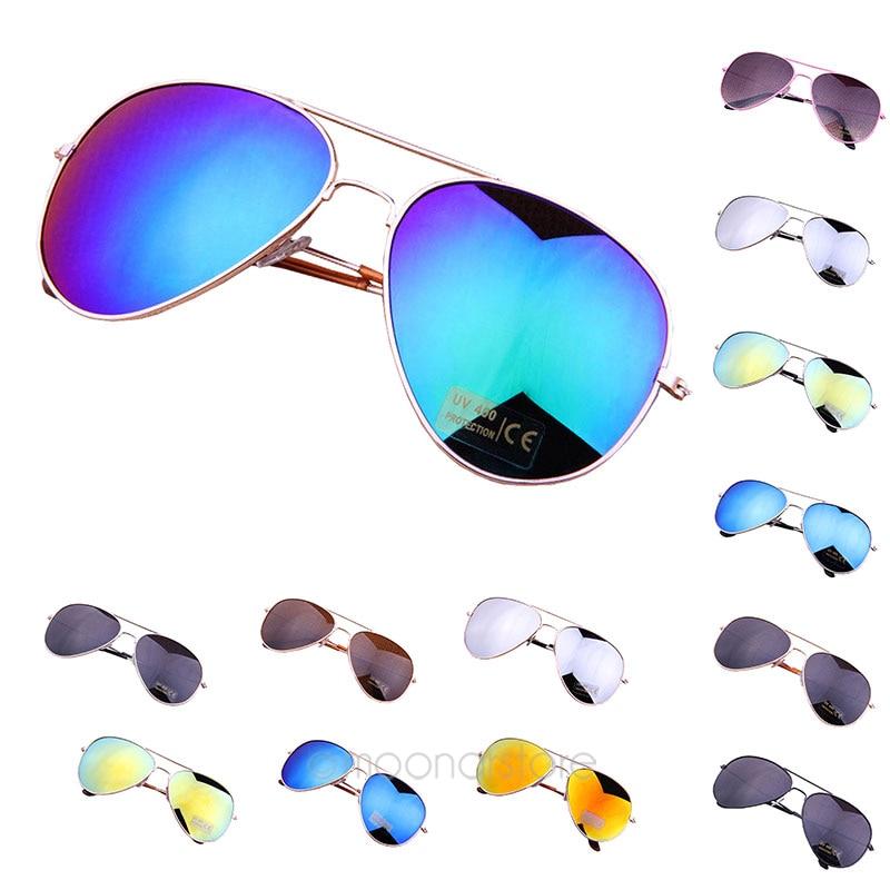 Driving Sunglasses Men Women Cool Bat Mirror UV Protection Cycling Eyewear Girls Metal Glasses Eyewear Accessories #137