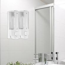 все цены на 350ml Plastic Soap Lotion Dispenser Wall Mounted Soap Liquid Shampoo Lotion Container Manual Dispenser Hotel Bathroom Supplies онлайн