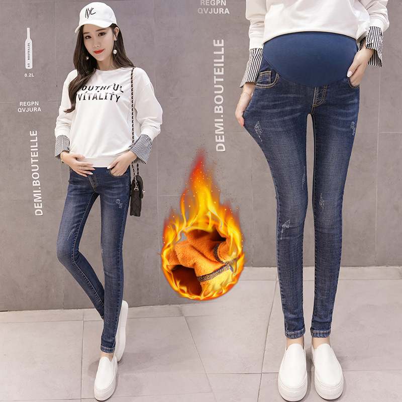 Maternity Jeans Pregnant Trousers Women Clothes 2018 Autumn Winter Pregnancy Leggings Warm Denim Pencil Pants Pantalon GrossesseMaternity Jeans Pregnant Trousers Women Clothes 2018 Autumn Winter Pregnancy Leggings Warm Denim Pencil Pants Pantalon Grossesse
