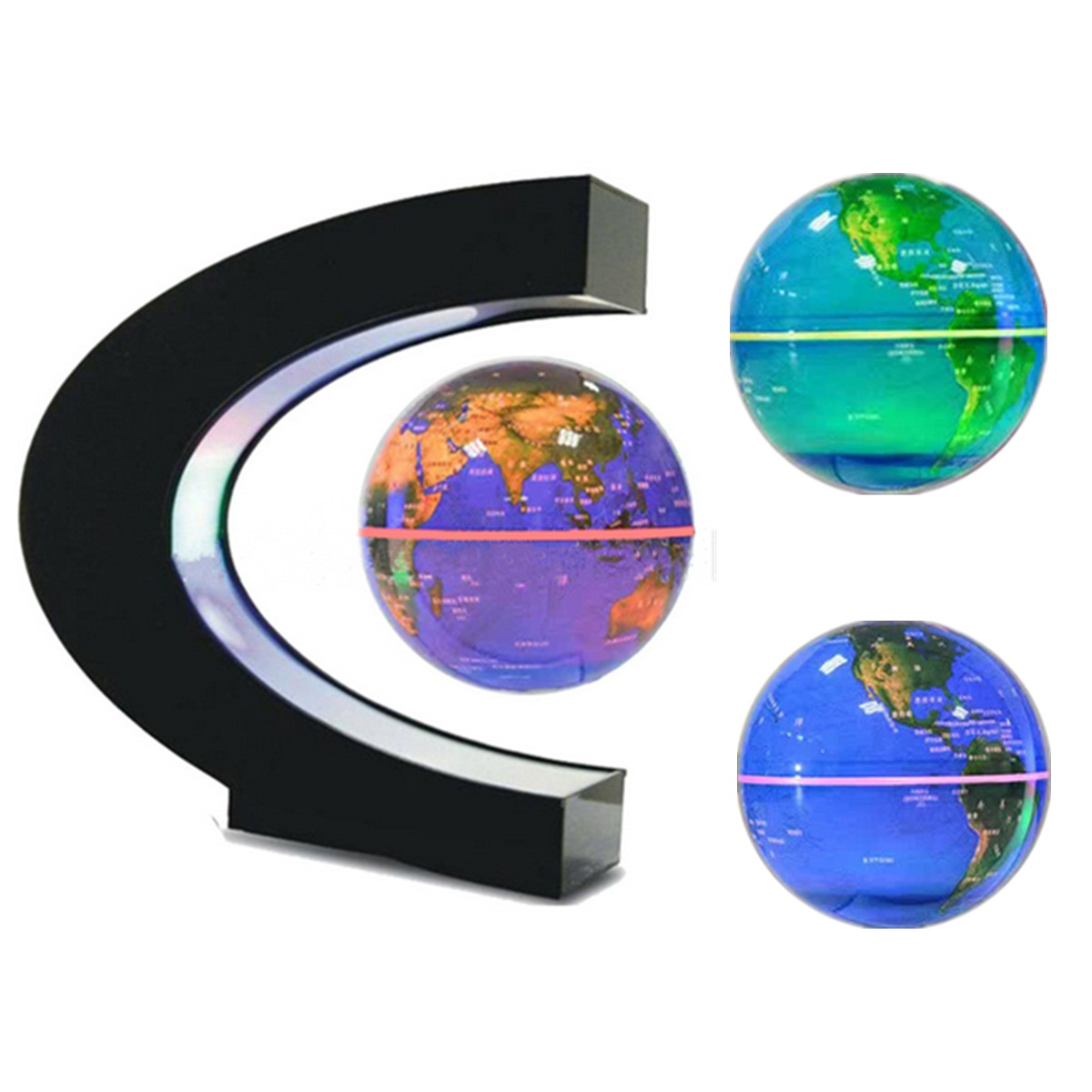Color Change LED Light Tellurion Magnetic Levitation Globe World Earth Map Children Educational Geography Floating Terrestrial magnetic floating levitation 3d print moon lamp led night light 2 color auto change moon light home decor creative birthday gift