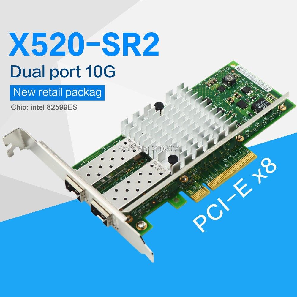 Intel X520-DA2 2-Port 10Gbps PCI-E Ethernet Network Adapter High Profile Bracket
