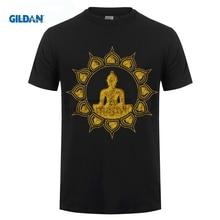 GILDAN BUDDHA MEDITATION T SHIRT LOTUS FLOWER BUDDHISM SPIRITUAL RELAXATION  MenS Funny Cotton Tee Shirts for Men T-shirt