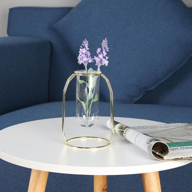 Transparent Nordic Tube Glass Vase
