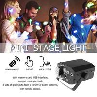 16 Patterns Projector Magic Effect DJ Ball Voice Control Stage Laser Light with controller moving head Party Lamp