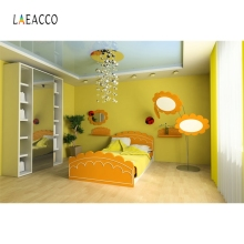 Laeacco Baby Childen Bedroom Wall Cartoon Backdrop Photography Backgrounds Customized Photographic For Photo Studio