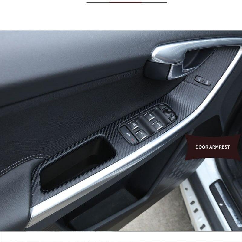 Interior Center Console Carbon Fiber Molding Sticker Decals For Volvo XC60