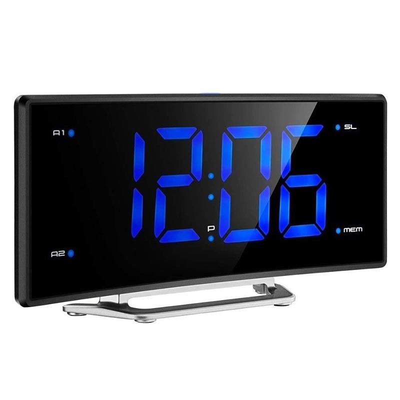 Fm radio-réveil led Numérique Électronique Table Projecteur Horloge Bureau Nixie Projection réveil Avec Projection De L'heure
