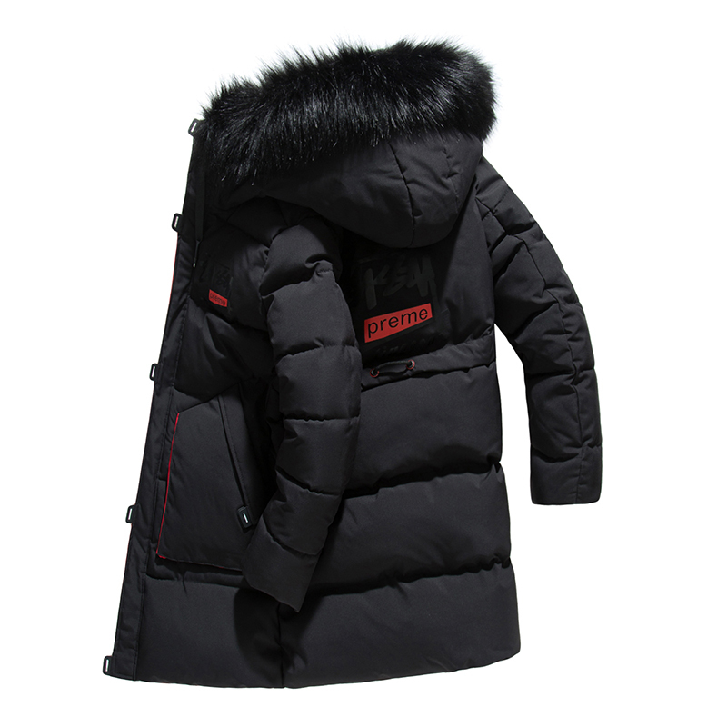 -30 Degree Men 2018 Winter Long Thick Cotton   Parka   Jacket Coat Men Hooded Pockets Outwear Jacket   Parka   Men 4XL Plus Size