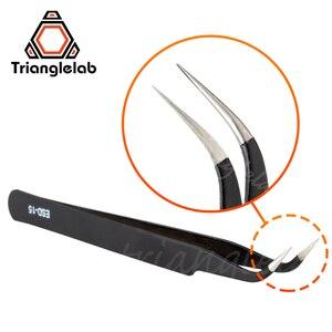 Image 2 - Trianglelab Gebogene/Gerade Port 3D Drucker Werkzeuge Edelstahl Pinzette Düse filament reinigung pinzette