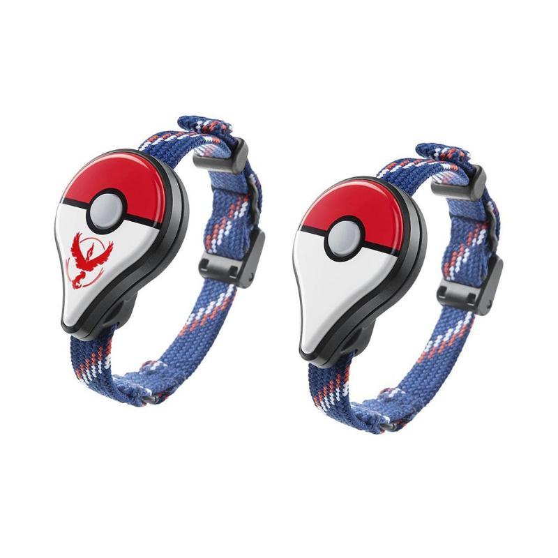 2 pcs/pack Bracelet Bluetooth Bracelet montre accessoire de jeu pour Pokemon Go Plus pour dispositif portable de joueur de Pokemon de l'intention