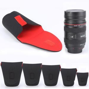 Image 2 - 5 גודל מצלמה עדשת תיק Neoprene עמיד למים מצלמה עדשת פאוץ תיק מקרה S M L XL XXL עבור Canon DSLR מצלמה עדשת תיק