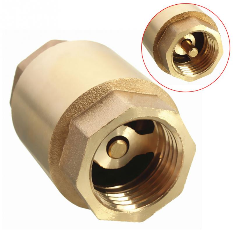 Multi-functional Accessories Brass Connector Home In Line Tool DIY Spring Vertical Type Check Valve