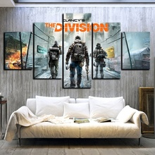 5 Piece Tom Clancys The Division Game Poster HD Pictures for Living Room Wall Decor