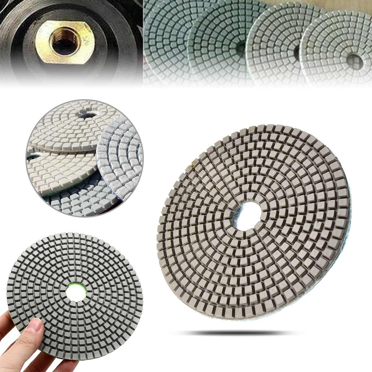 5 Inch Diamond Polishing Pads Grit 50-6000 Grits Wet / Dry Sanding Disc For Marble Concrete Granite Glass New 1 Pcs Power Tools