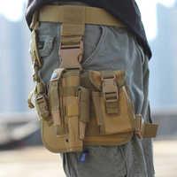 2019 Airsoft Tactical Magazine Leg Holster Coscia Custodia Per Armi Del Sacchetto Del Sacchetto per Outdoor Caccia Militare Del Sacchetto con la Cinghia Regolabile
