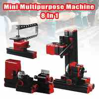 8 In 1 Mini Multipurpose Machine 12VDC 24W 2A 20000r/min Metal Wood Lathe Drilling Sanding Turning Milling Sawing Machine