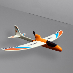 Image 5 - Airplane Toy Children Kids Streamline Gift Capacitor Hand Throwing Electric Educational Model Funny DIY Glider Foam RC Airplane