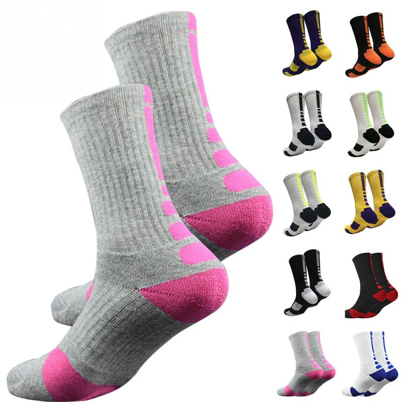 Unisex Adult Outdoor Sport Men's long Socks Sport Professional Basketball Elite protection Football Sock Breathable
