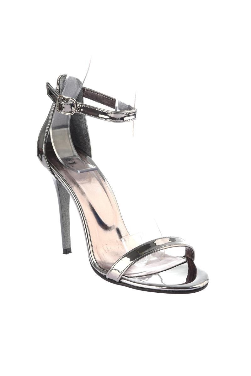 Alto Soho Mujeres Zapatos 12769 Para Tacón De Platino gg6TawIqR