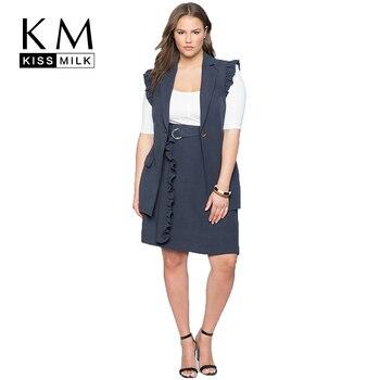 Kissmilk Style européen et américain grande taille banlieue ligne a mode confortable nouveau Style Simple tempérament jupe