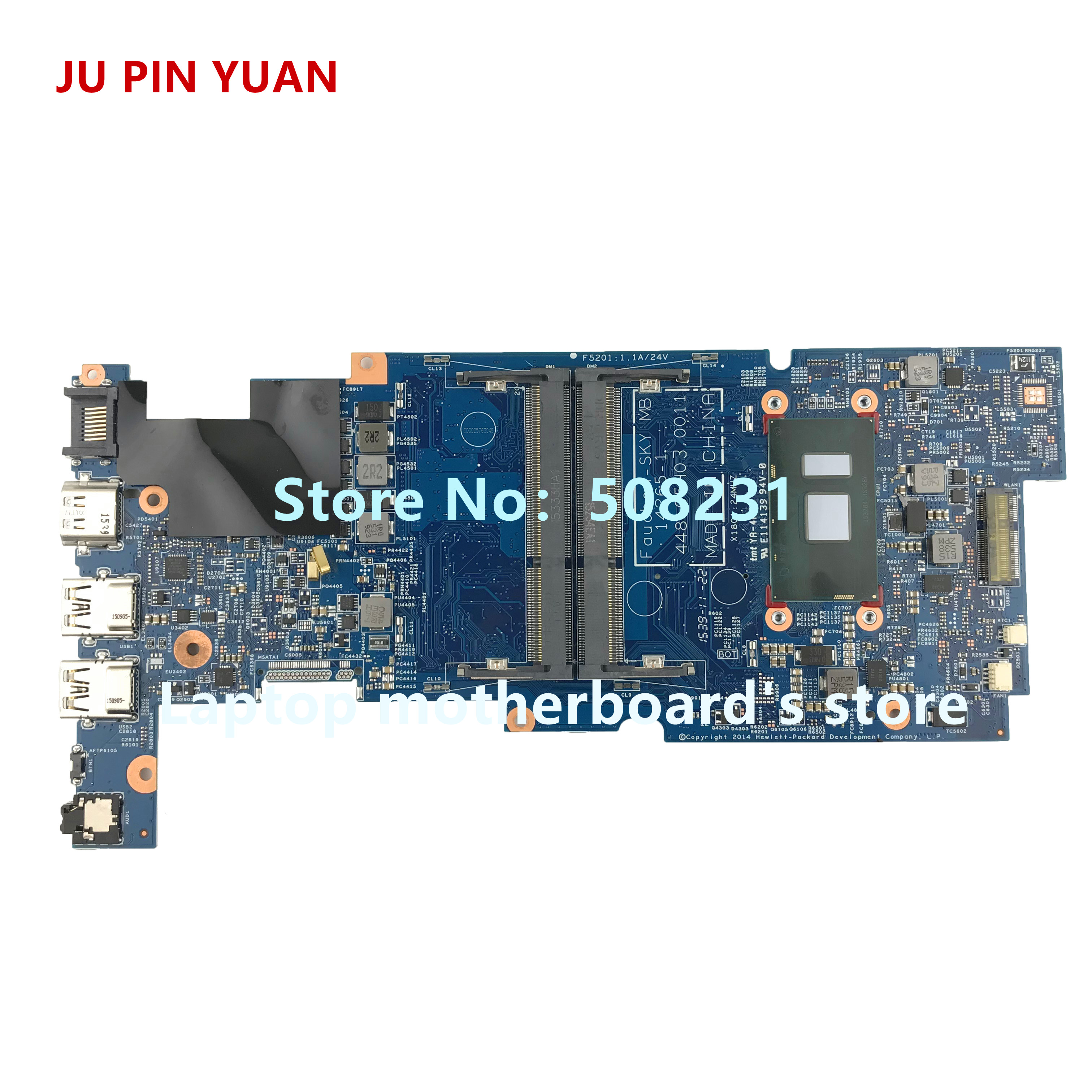 JU PIN YUAN 827823-501 827823-601 for HP PAVILION 13-S X360  13-S199NR Laptop motherboard 14265-1 448.05H03.0011 with i5-6200UJU PIN YUAN 827823-501 827823-601 for HP PAVILION 13-S X360  13-S199NR Laptop motherboard 14265-1 448.05H03.0011 with i5-6200U