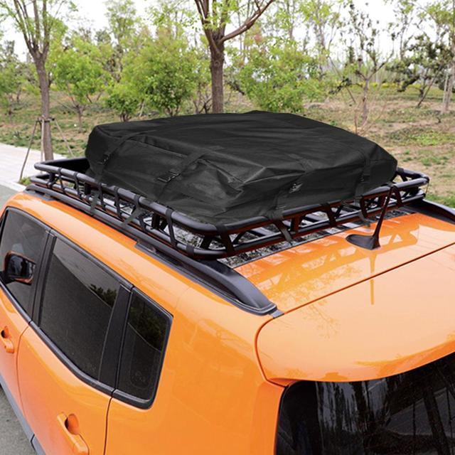 80X80X40CM Car Waterproof Cargo Roof Bag Car Rooftop Cargo Carrier Bag Soft Rooftop Luggage Carriers With Straps 4