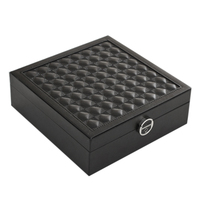 Pu Leather Wooden Jewelry Storage Box Organizer Watch Earring Necklace Bracelet Nail Display Case Women Gift