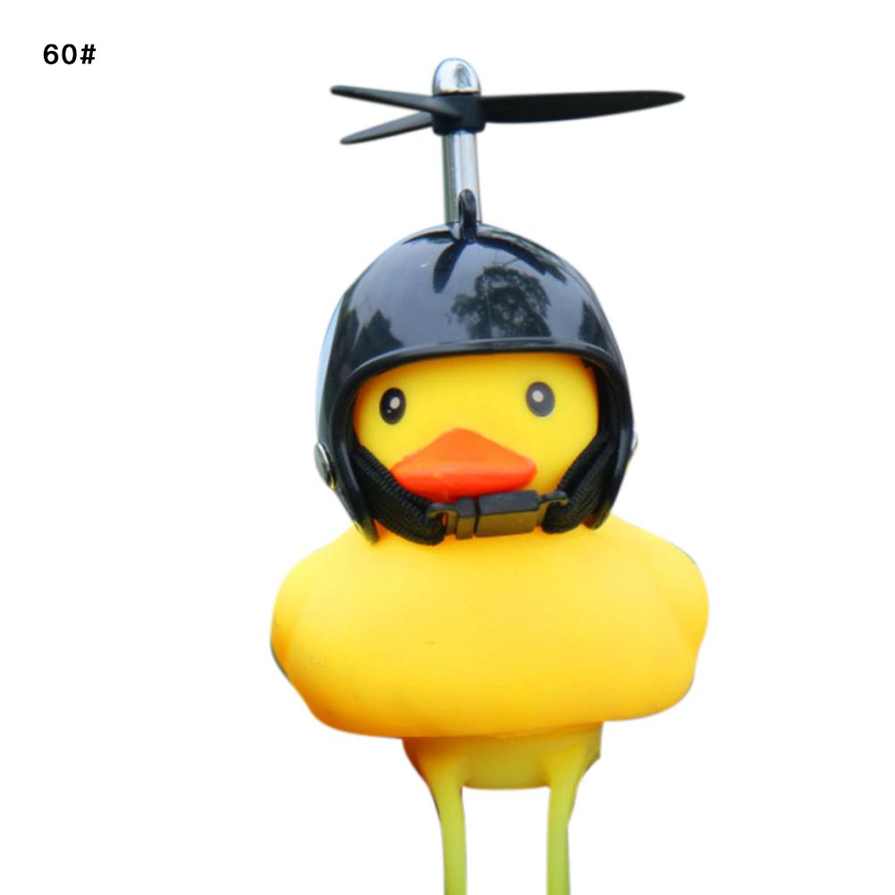 Bike Horn Bicycle Lights Bell Lovely Cute Duck Squeeze Helmet Electric Car Horn Lamp Duck Head Light for Children Adults 35 in Bicycle Light from Sports Entertainment