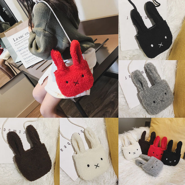 New Arrival Mini Cute Rabbit Coin Purses for Women Girls Baby Kids Gift Lovely Plush Wallets Key Coin Purse