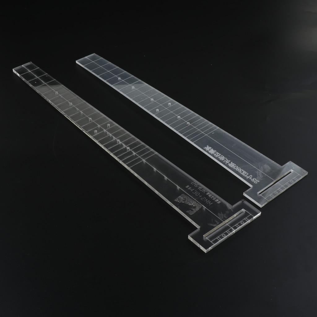 23 Zoll transparente Gitarre Acryl Griffbrett Brücke Position Vorlage