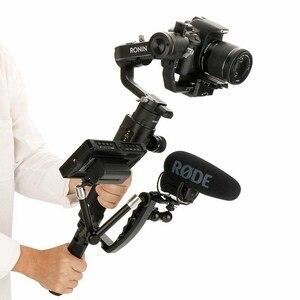 Image 5 - Per Dji Osmo Mobile 2 Ronin S Maniglia di Montaggio del Giunto Cardanico Staffa a L TransMount Mini Dual Grip per il Monitor HA CONDOTTO LA Luce microfono