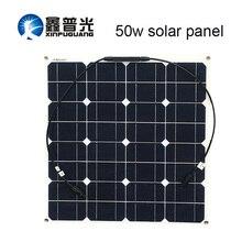 Xinpuguang бренд солнечной Батарея гибкий Панели солнечные 50w 12v Солнечный 16v Мощность Системы Наборы для рыбацкой лодки кабина для кемпинга