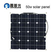 Xinpuguang Brand Solar Battery Flexible Panel 50w 12v Connector 16v Power System Kits for Fishing Boat Cabin Camping
