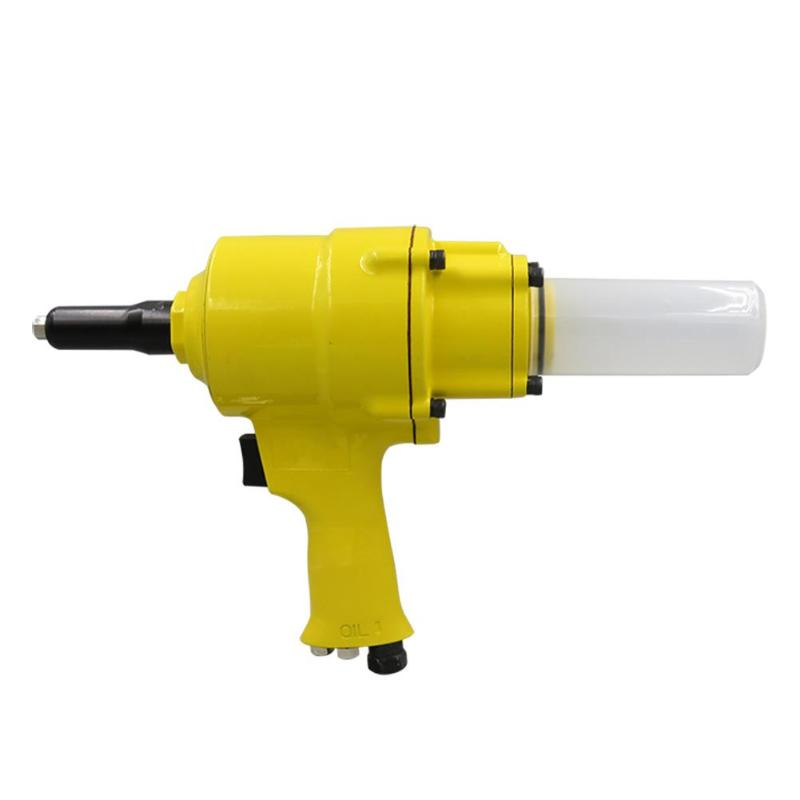 2 Cylinder Pneumatic Pistol Type Rivet Gun Air Power Operated Riveter