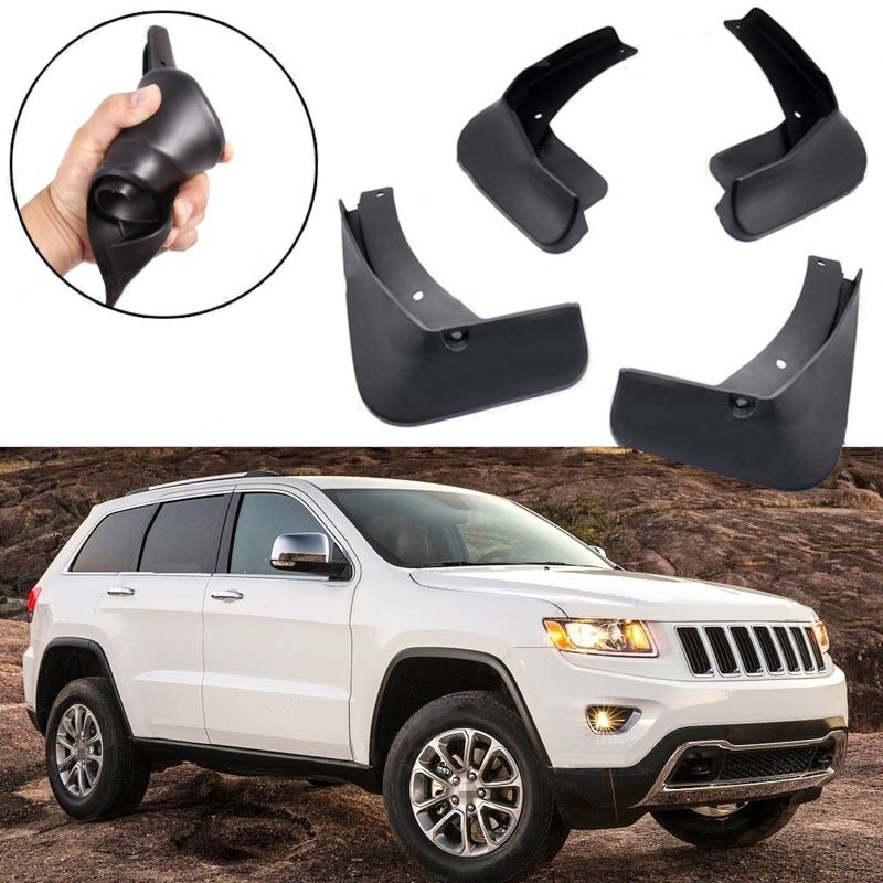 Complete 4pcs/set of High Quality ABS Plastic Auto Car Front Rear Mudguard Fender Fit for Jeep Grand Cherokee 2011 2017