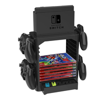 Multi Function Storage Bracket For Nintend Switch Tower Holder Stand Shelf For Switch Game Disc Card & Controller Accessories