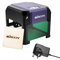 KKmoon 3000mW Compact Desktop Laser Engraving Machine Logo Mark Printer CNC Laser Carving Machine DIY Carving Engraver