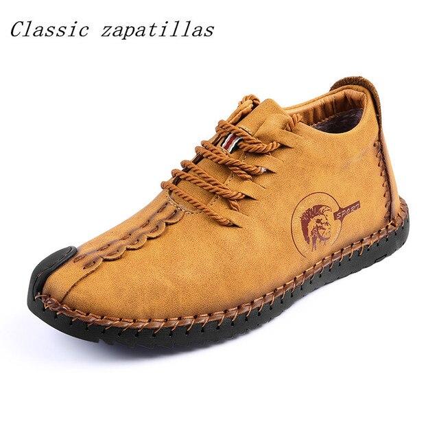 คลาสสิก Zapatillas อุ่นฤดูหนาวผู้ชายรองเท้าที่มีคุณภาพสูงแยกหนัง Casual Men รองเท้าตุ๊กตาแฟชั่นรองเท้าบูทขนาด 38-46