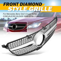 Diamond Grill Car Front Bumper Grille Grill With Camera For Mercedes For Benz GLE For Coupe W292 C292 GLE350 GLE400 2015 2018