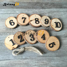 1-10 Party Direction Signs Table Numbers Holder Rustic Wedding Home Decor Supplies for Tables Decoration