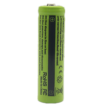 1/2PCS pointed New 14500 Battery 3.7V Li-ion Rechargeable for flashlight Free Shipping