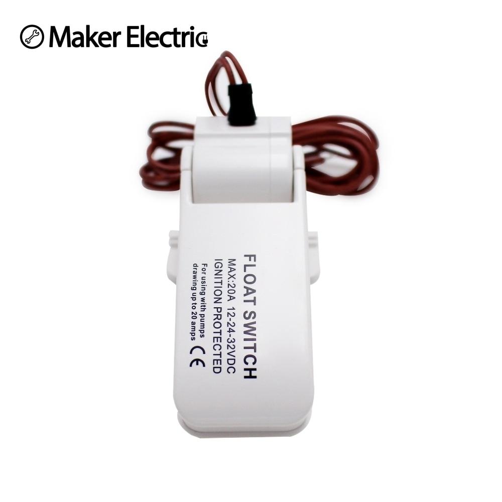 Frete grátis interruptor de porão elétrico automático dc 12 v 24 32 v para bombas de porão bomba barco sensor fluxo da bomba água float switch