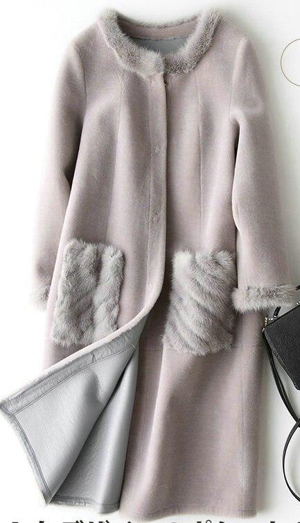 Пальто куртка натуральный, пальто с мехом Зимние куртки для женщин меховые кожаные пальто с меховой курткой