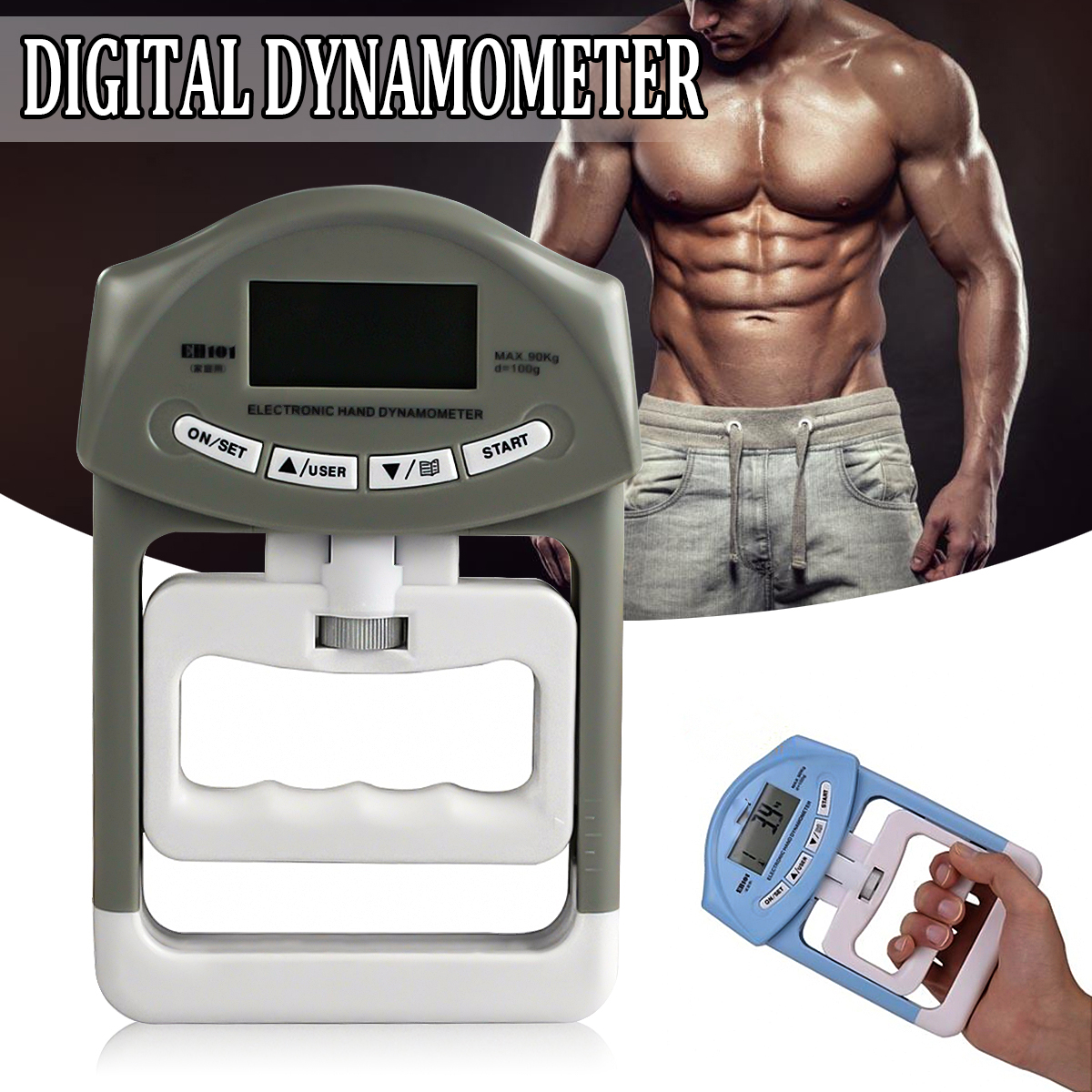 Dynamometer Hand-Grip Strength Training Body-Building Developer Power-Fitness-Measurement title=