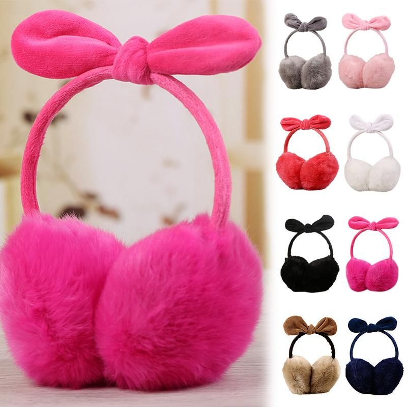 Capsule Pill Health Care Products Pattern Winter Earmuffs Ear Warmers Faux Fur Foldable Plush Outdoor Gift