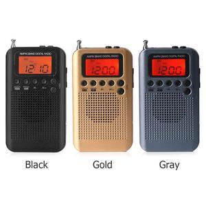 Image 2 - Уличное портативное AM/FM стерео радио, карманное 2 диапазонное цифровое тюнинговое радио, мини приемник, уличное радио с наушниками и шнурком