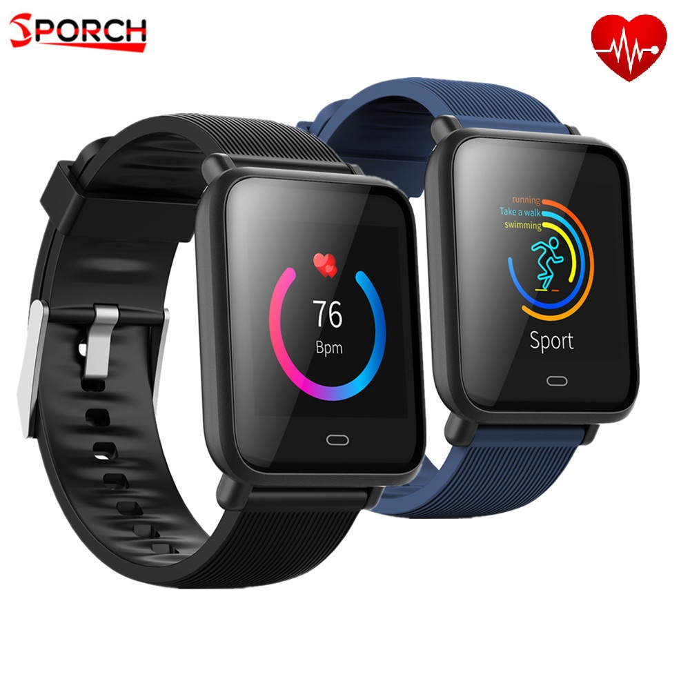 Q9 Waterproof Sports Smart Watch For Android / IOS Smartwatch With Heart Rate Mo