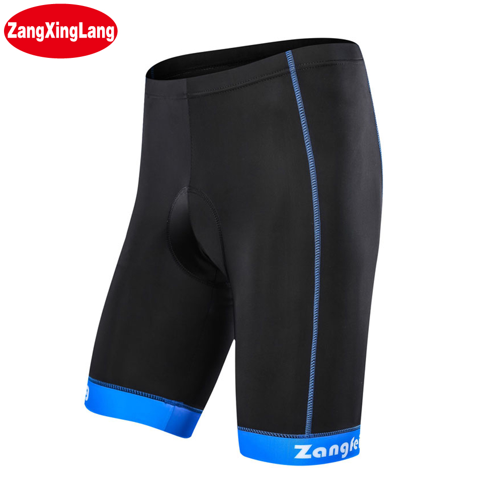 Zangxinglang Mens And Womens MTB Bike Cycling Shorts With Powerband Gel 5D Padded Bicycle Shorts Black
